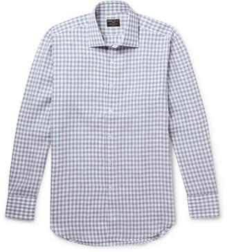 Emma Willis Slim-fit Cutaway-collar Gingham Linen Shirt