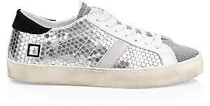 D.A.T.E Women's Hill Scale Embossed Sneakers