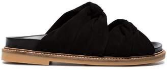 Ganni Black Anoush Suede Sandals
