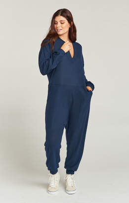 Show Me Your Mumu Jules Jumpsuit ~ Navy Brushed Hacci