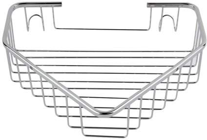 Music Stainless Steel Shower Basket Corner Bathroom & Kitchen Shelf Tidy Rack