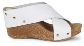 Carvela Comfort Sooty Leather Platform Sandals