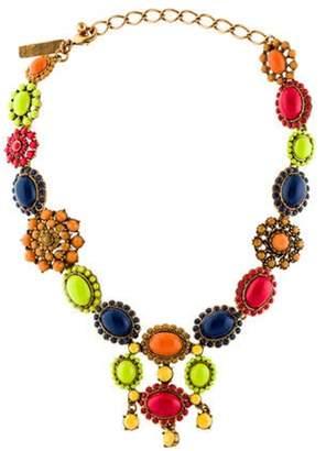 Oscar de la Renta Crystal Collar Necklace gold Oscar de la Renta Crystal Collar Necklace