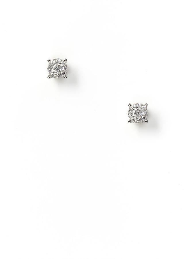 0.28 Carat Diamond Cluster Stud Earrings