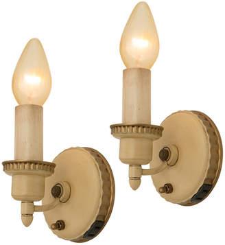Rejuvenation Pair of Sweet Toleware Candle Sconces