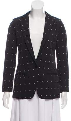 Steven Alan Printed Notched-Lapel Blazer