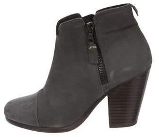 Rag & Bone Nubuck Round-Toe Ankle Boots