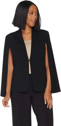 Halston H By H by Stretch Suiting Cape Blazer with Front Closure