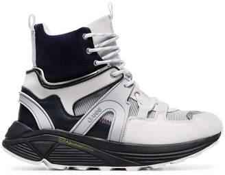 Ganni Brooklyn High hi-top leather sneakers