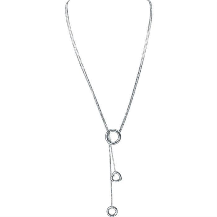 925 Motif & Circle Necklace by Christofle