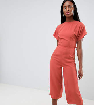 Missguided Tall Open Back Culotte Jumpsuit