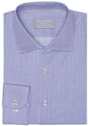 Hickey Freeman Check Long Sleeve Contemporary Fit Dress Shirt