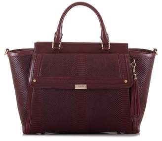 Brahmin Taylor Snake Embossed Leather Satchel