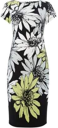 Dorothy Perkins Womens *Roman Originals Lime Floral Print Jersey Shift Dress