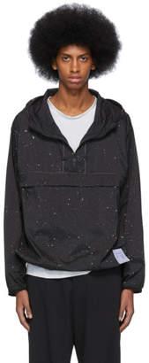 Satisfy Black Silk Splattered Anorak Jacket