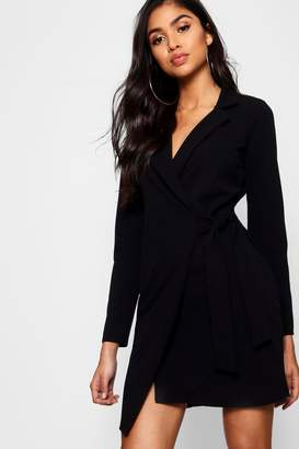 boohoo Tie Side Blazer Dress
