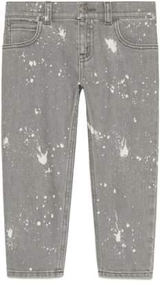 Gucci Children's washed denim pant