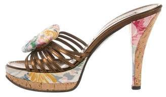 Christian Lacroix Floral Embellished Slide Sandals