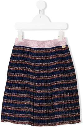 Little Marc Jacobs lurex pleated skirt