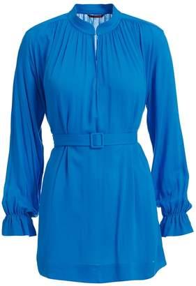 WtR - WtR Blue Belted Tunic Blouse