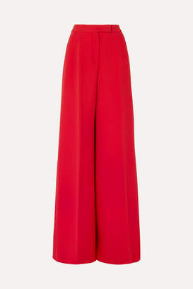 Antonio Berardi Wool-blend Crepe Wide-leg Pants - Red