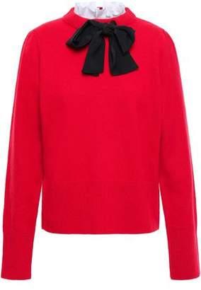 Sandro Lezard Pussy-bow Wool Sweater