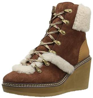 See by Chloe Women's Eileen Wedge Boot W Shearling Fashion