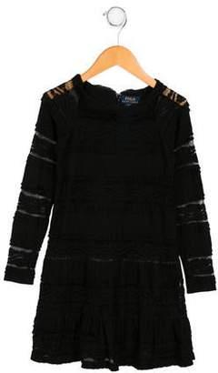 Polo Ralph Lauren Girls' Lace Long Sleeve Dress