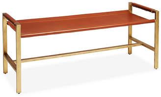 One Kings Lane Wright Sling Bench - Bronze/Brown Sugar Leather