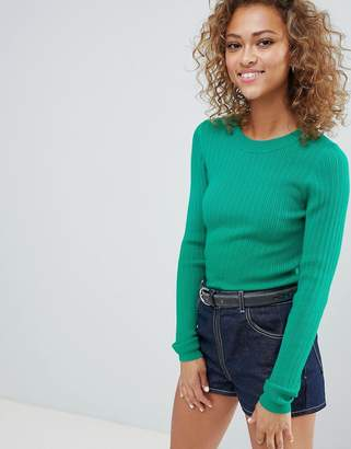 Asos DESIGN ribbed sweater in fine knit