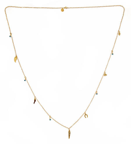 Blee Inaras Long Necklace With Charms