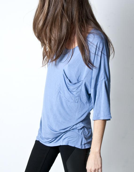 Oak Slate Blue Slouch Pocket Tee
