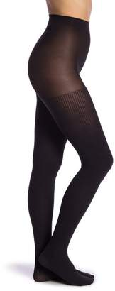 Hue Ribbed Solid Knit Tights - Pack of 2