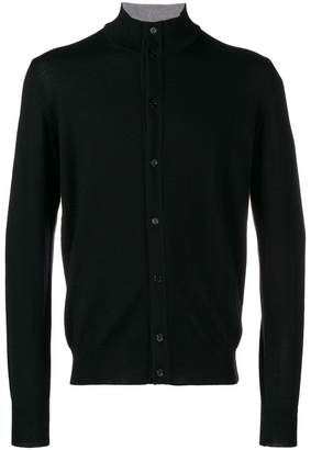 Fay fine knit buttoned cardigan