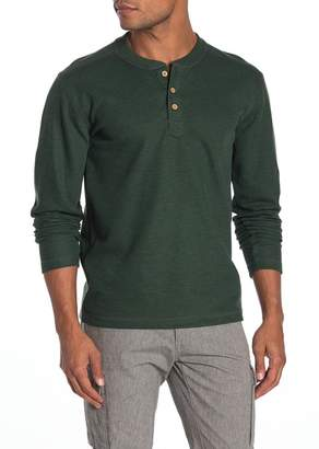 Vintage 1946 Ribbed Knit Long Sleeve Henley T-Shirt