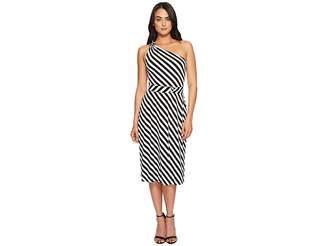 MICHAEL Michael Kors One Shoulder Striped Dress Women's Dress