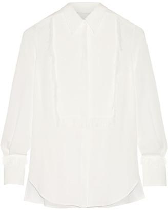 3.1 Phillip Lim - Fringed Silk-crepe Shirt - Ivory $495 thestylecure.com