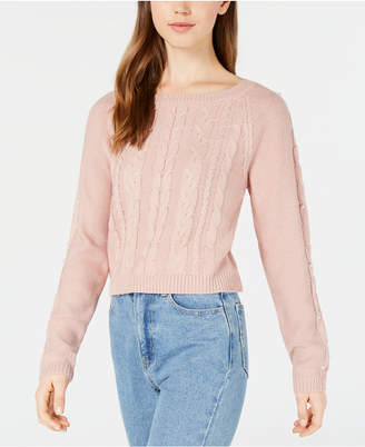 Freshman Juniors' Embellished Cropped Sweater