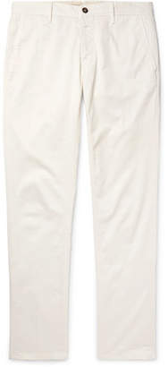 Incotex Slim-fit Cotton-blend Twill Trousers - Cream