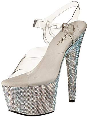 Pleaser USA Women's Bejeweled-708DM/C/SMCRS Platform Sandal