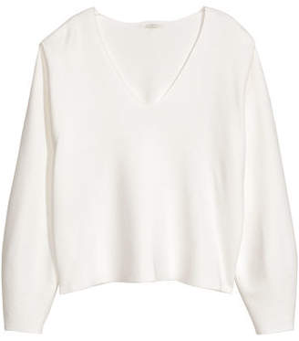 H&M V-neck Sweater - White
