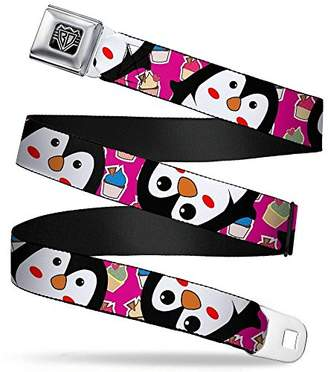 Buckle-Down Unisex-Adult's Seatbelt Belt Penguins Regular