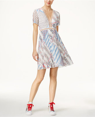 TOMMYXGIGI Silk Printed A-Line Dress $275 thestylecure.com