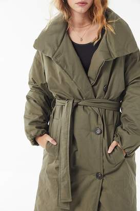 Urban Outfitters Belted Puffer Trench Coat