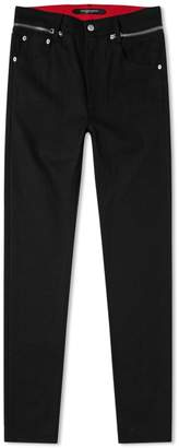 Alexander McQueen Zip Waistband Jean