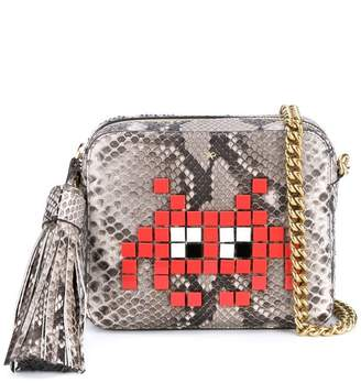 faade356c681 Anya Hindmarch Python Space Invaders cross body bag