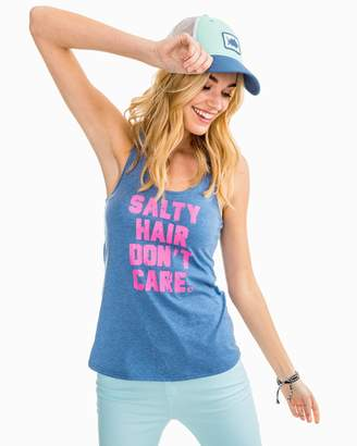 Southern Tide Salty Hair Don't Care Graphic Tank