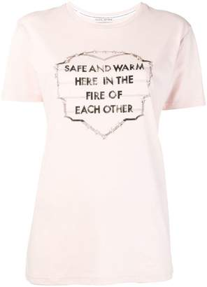 Each X Other embroidered and printed slogan T-shirt