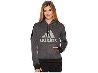 adidas Team Issue Fleece Pullover Logo Hoodie Women's Sweatshirt