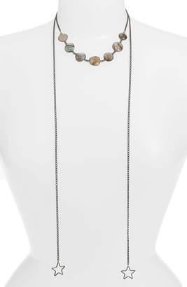 MAD JEWELS Stargirl Labradorite Lariat Necklace